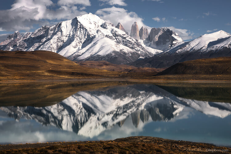 reflection Torres del Paine